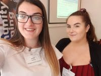 Our Hard-working students, Leah and Caitlyn