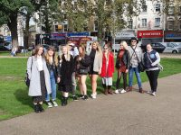 group shot of fashion students