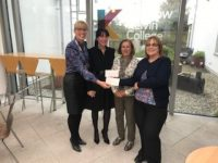 Catherine and Agnes are pictured here with Audrey Miller, Vice Principal and Lisa Clark